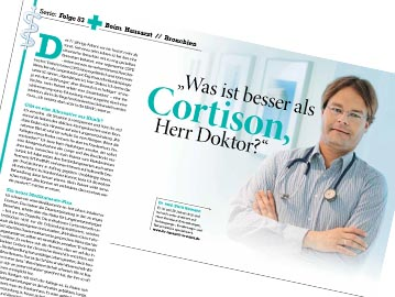 Was ist besser als <strong>Cortison</strong>, Herr Doktor?